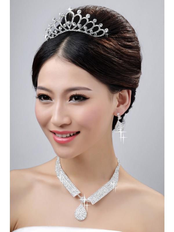 Nice Bröllopsstycken Halsband örhängen Set