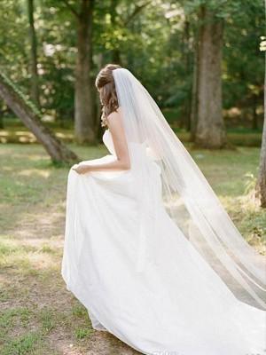 Elegant Tyll Långa Wedding Slöjor
