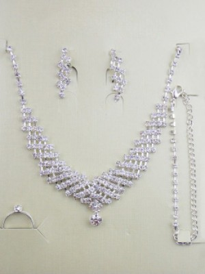 Gorgeous Alloy Dekorera med Rhen Stens Wedding Bridal Juvelry Set