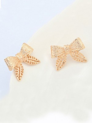 Occident Cartoon Rosett Metallic Stud Hot Sale örhängen