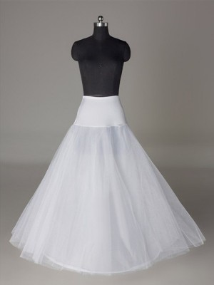 Tyll Nätting A-Line 2 Tier Floor Length Slip Style/Wedding Underkjolar