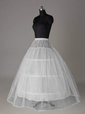 Tyll Nätting Ball-Gown 2 Tier Floor Length Slip Style/Wedding Underkjolar