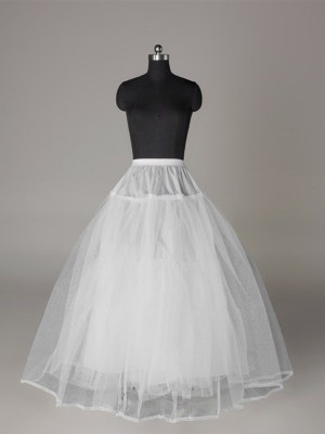 Tyll Nätting Ball-Gown 3 Tier Floor Length Slip Style/Wedding Underkjolar