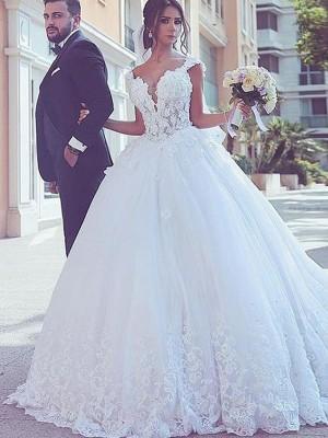 Stora Hjärtformad Ärmlös Sweep släp Spetsar Tyll Bröllopsklänningar