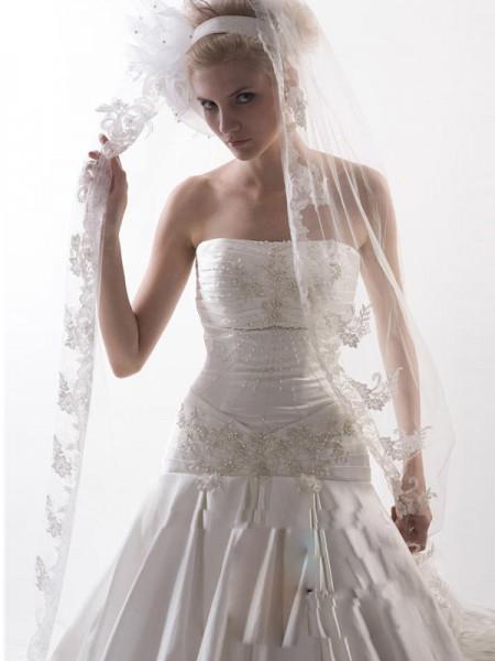 Blommor Tyll Wedding Slöjor
