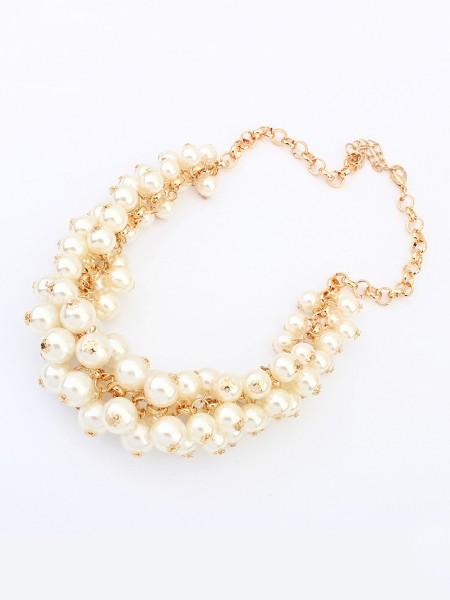 Occident Retro PaSpetsar Imitation Pärlor Hot Sale Halsband