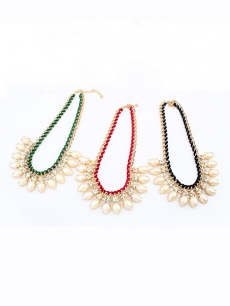 Occident Stylish Exquisite Pärlor Water drop Hot Sale Halsband