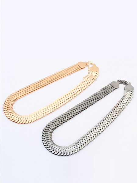 Occident Personality Metallic thick chains Korta Hot Sale Halsband