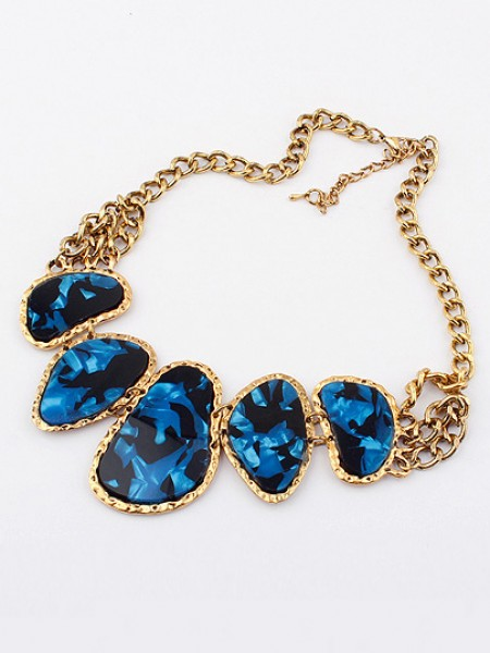 Occident Retro Hyperbolic Colored stones New Stylish Hot Sale Halsband