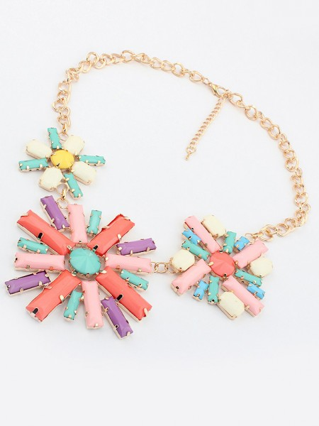 Occident Hyperbolic Colorful Blommor Hot Sale Halsband
