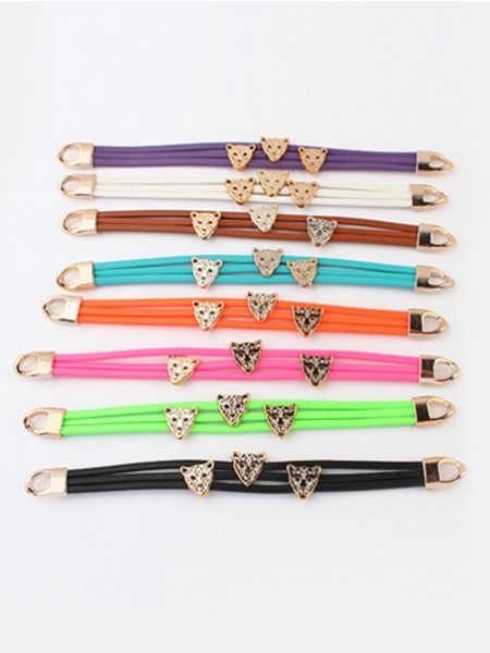 Occident Candy colors Summer All-match Leopard head Hot Sale Armband