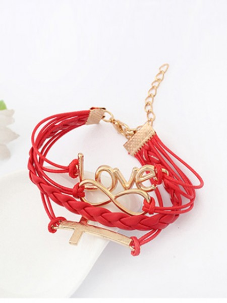 Korean version Romantic Password love Cross Hot Sale Armband