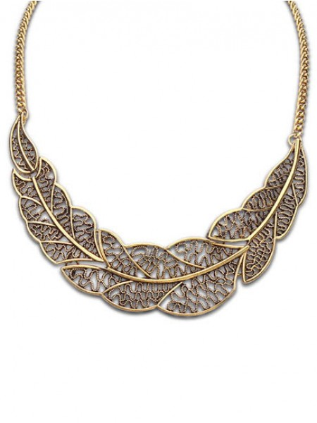 Occident Foreign orders Simple Hollow Tree leaf Hot Sale Halsband