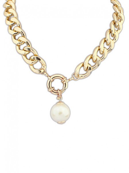 Occident PaSpetsar Pärlor thick chains Hot Sale Halsband