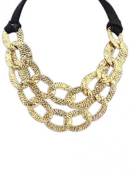 Occident Hyperbolic Metallic Hollow Personality Hot Sale Halsband