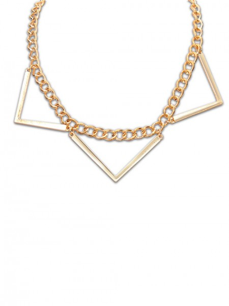 Occident Hyperbolic Punk Triangle Geometry Hot Sale Halsband