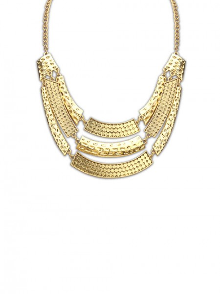 Occident Major Suit Street Shooting Metallic Personality Hot Sale Halsband