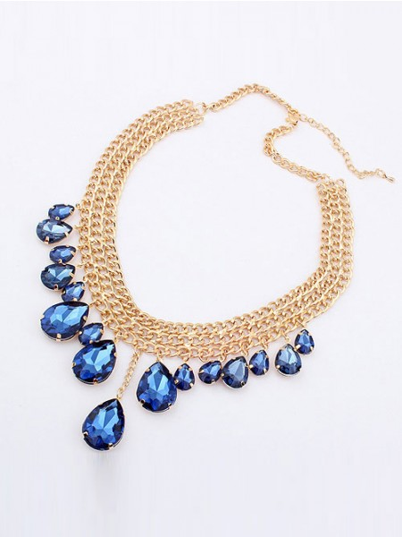 Occident Hyperbolic Stylish Metallic Mashup style New Water Drop Hot Sale Halsband
