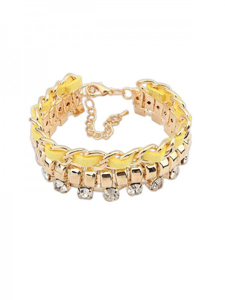 Occident Fashionable New Flash Drilling Woven Hot Sale Armband