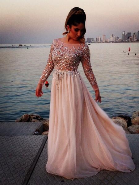 festklänning med lång ärm