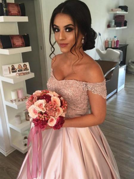 Stora Ärmlös Off-shoulder ringning Satäng Rufsar Domkyrkan tåg Bröllopsklänningar