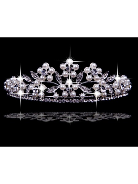 Very Stunning Czech Rhinestones Pearls Wedding Headpieces