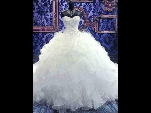 Ball Gown Sleeveless Sweetheart Chapel Train Beading Sequin Organza Wedding Dresses